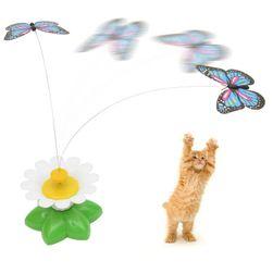 Jucărie amuzantă cu baterii pentru pisici - fluture