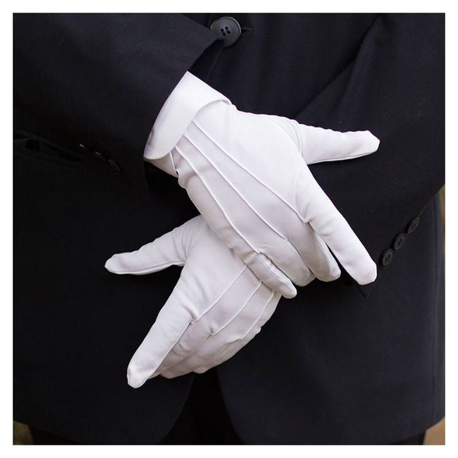 Formalne bele rukavice 1