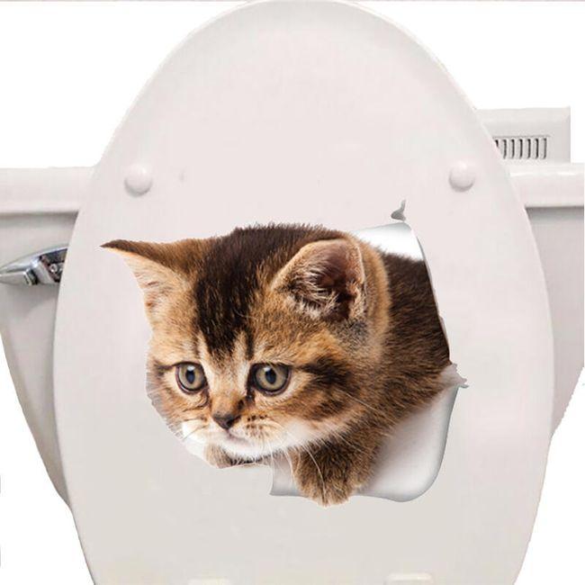 Samolepka kočky na záchod 1