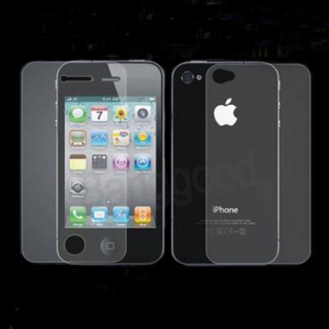 Anti-glare (matowy) folia ochronna na iPhone 4, ściereczka 1
