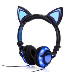 Stylowe słuchawki w kształcie świetlistych kocich uszu