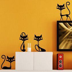 Autocolant pentru perete - patru pisici