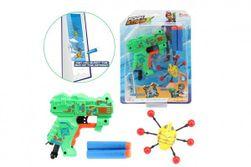 Pistole na pěnové náboje 11cm plast + náboje 2ks s broukem na kartě RM_00542681