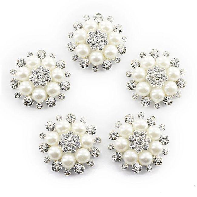 Kamínky perlové - 10 ks 1