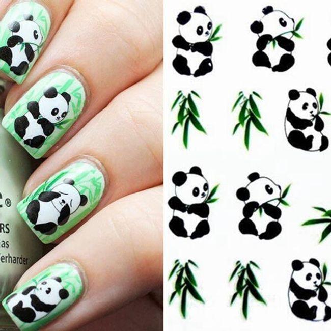 Köröm matricák - panda 1