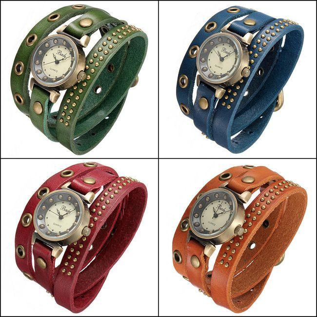 Dámské retro hodinky s omotávacím páskem ve 3 barvách 1