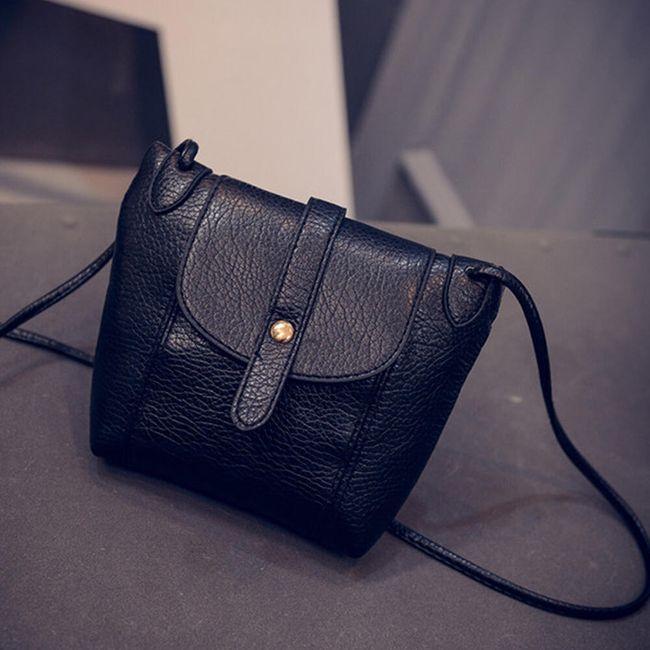 Malá elegantní kabelka přes rameno - černá 1