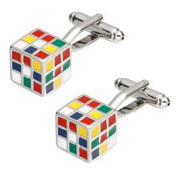Manžetové knoflíky - barevné kostky