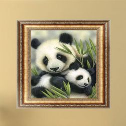 5D slika sa pandom i mladuncem DIY