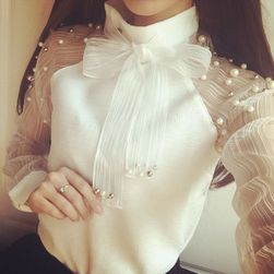 Ženska elegantna bluza z biseri