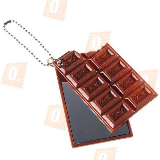 Přívěsek na klíče se zrcátkem - ve tvaru čokolády 1