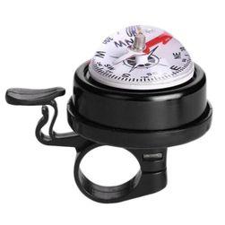 Zvonek na kolo s kompasem - černý