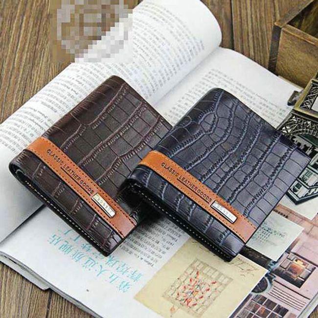 Pánská peněženka s hnědým pruhem - ve 4 barvách 1