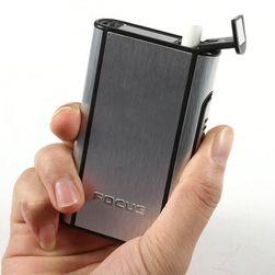 Cigaretová tabatěrka z kovu s tlačítkovým vysouváním - 4 barvy