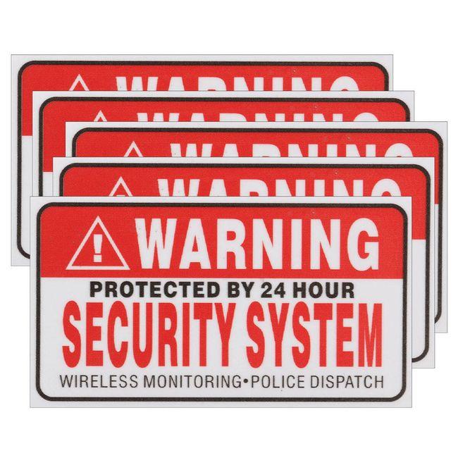 Figyelmeztető matrica - őrzött 24 órán keresztül - 5 darab 1