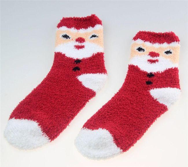 Ženske tople čarape sa božićnim motivima - 6 varijanti 1