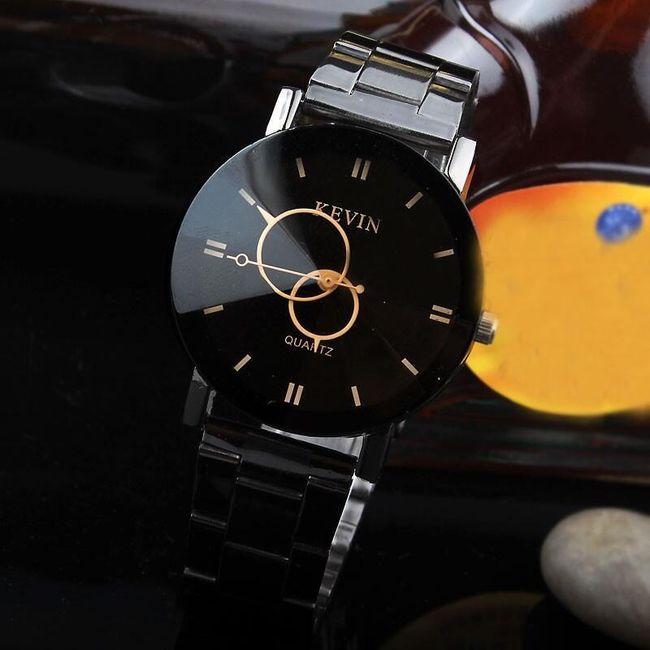 Элегантные черные наручные часы Kevin 1