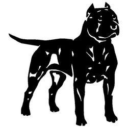 Samolepka ve tvaru pitbulla