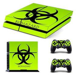 Naklejka PS4 jaskrawo zielona