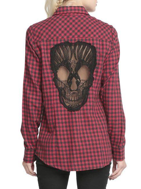 Košile s lebkou na zádech 1