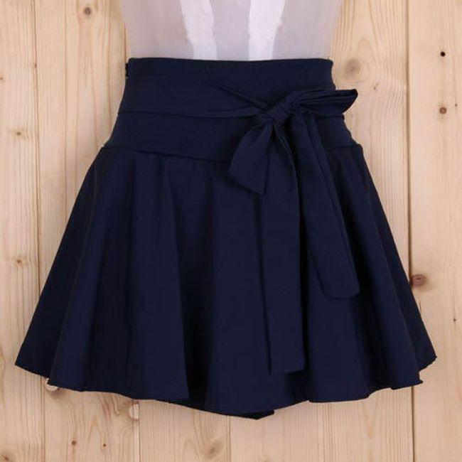 Elegantní sukně s mašlí - černá 1