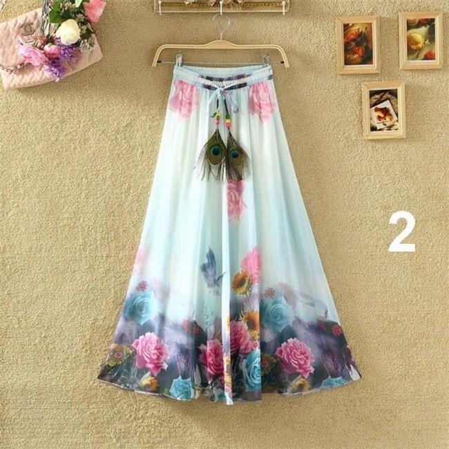 Lehoučká dlouhá sukně na jaro i léto - varianta 2 1