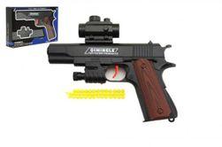 Pistole na měkké kuličky plast 20cm v krabičce 24x15x4cm RM_00311369