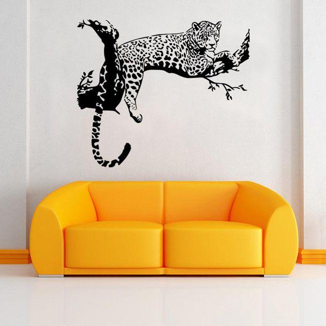 Leopardí samolepka na zeď 1