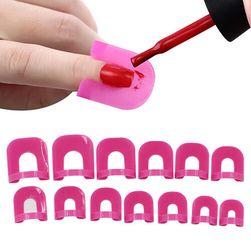 Plastová šablona na lakování nehtů a nalepovací proužky - 26 kusů