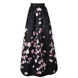 Długa spódnica z wysokim stanem - różne wzory