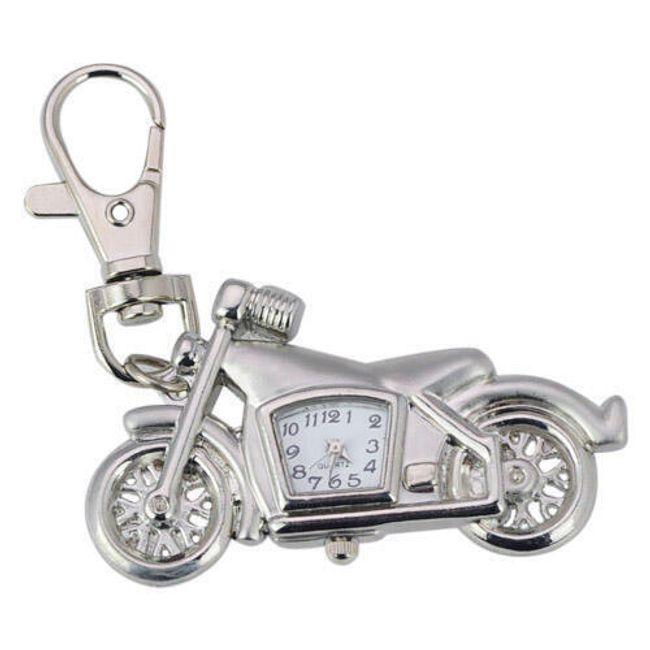 Breloczek na klucze w kształcie motocyklu z zegarkiem 1