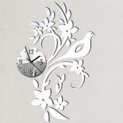 Modern falióra madár és virágokkal - 3 színben