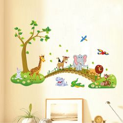 Zvířátka v přírodě - samolepka na zeď