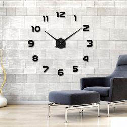Голям 3D часовник за стена - черен цвят