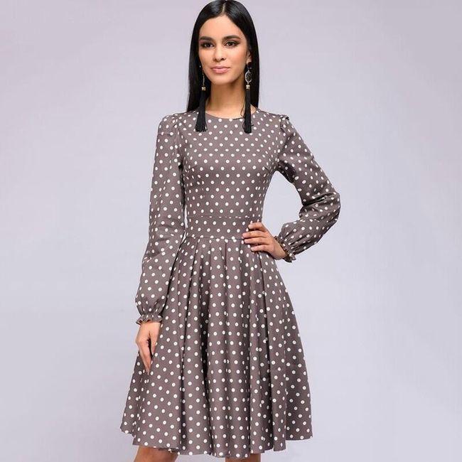 Damska sukienka z długimi rękawami Cilla 1