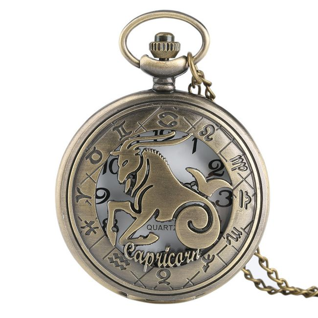 Vintage džepni sat - horoskopski znak - 12 varijanti 1