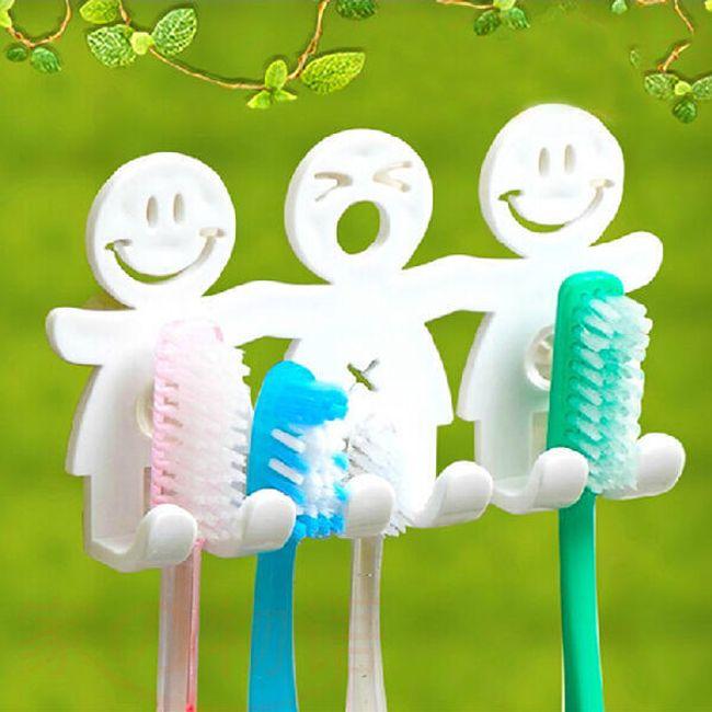 Пластиковый держатель для зубных щеток 1