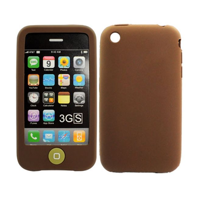Silikonové ochranné pouzdro pro iPhone 3G a 3GS - hnědé 1