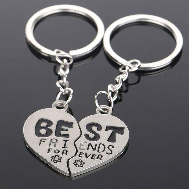Set klíčenek best friends forever 1