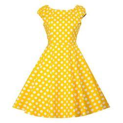 Vintage obleka s kratkimi rokavi - 10 barv