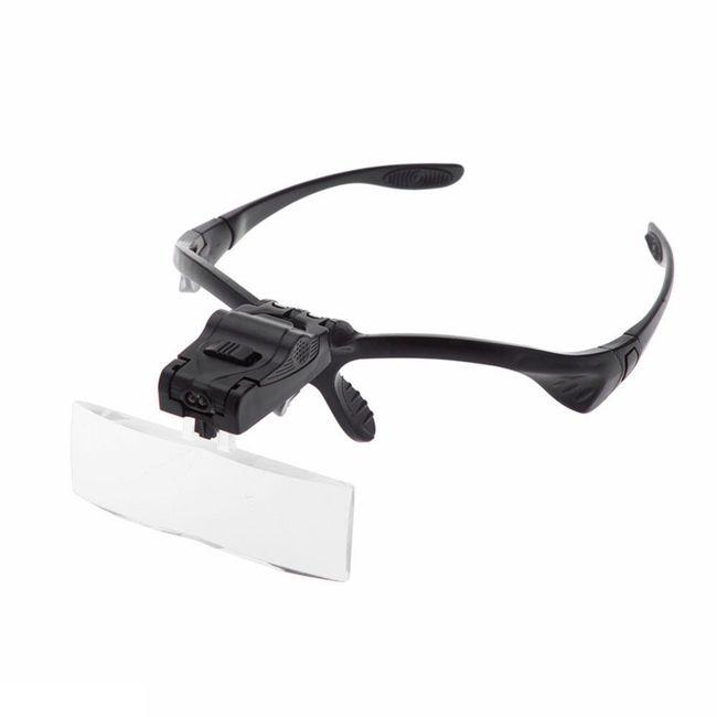 Zvětšovací sklo na brýle 1