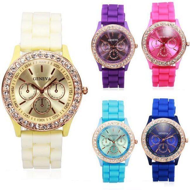 Silikonowy zegarek Geneva w 11 atrakcyjnych kolorach 1