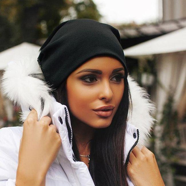 Ženska jednobojna kapa - 6 varijanti 1