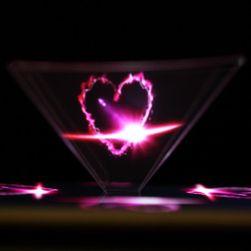 Piramidă 3D pentru afișare holograme