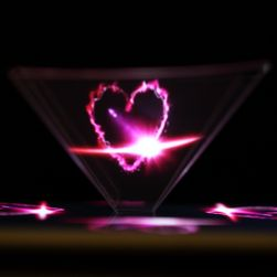 3D piramis a hologramkijelzéshez