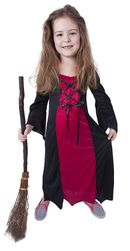 Dětský kostým bordó čarodějnice/Halloween (S) RZ_850804