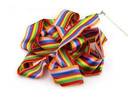 Panglică colorat pentru dans - 2 variante