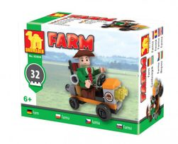 Stavebnica Dromader Traktor farma 92899 32ks v krabici 9x7x5cm RM_23292899