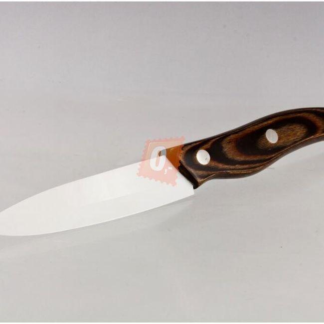 Keramický nůž čepel 101mm s dřevěnou rukojetí 1