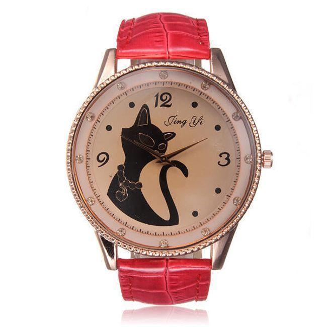Zegarek z kotkiem - różne kolory 1